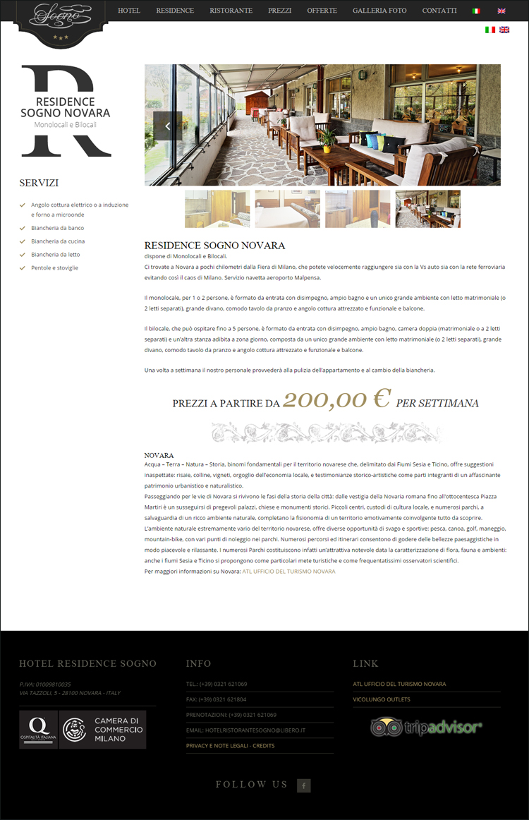 Restyling sito web responsive