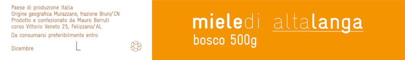 Food packaging - Etichetta Miele - Bosco