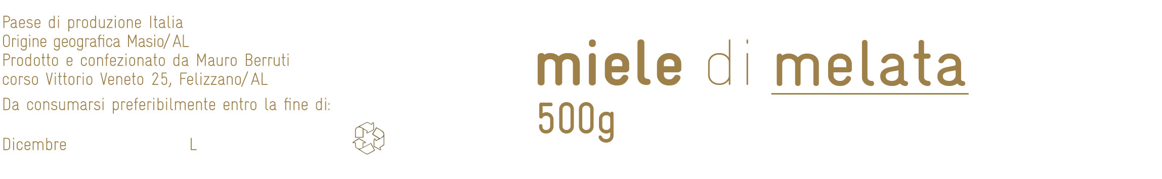 Food packaging - Etichetta Miele - Melata
